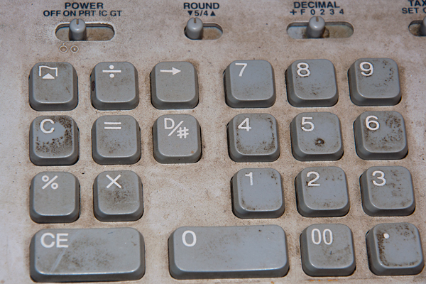 Calculator in the Historic Silver Plume Post Office